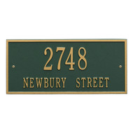 Hartford Address Plaque 16Lx7H (2 Lines)