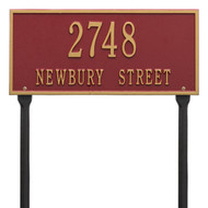 Hartford Address Lawn Plaque 16Lx7H (2 Lines)