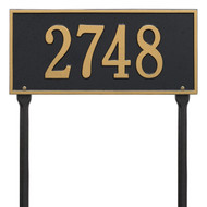 Hartford Address Lawn Plaque 16Lx7H (1 Line)