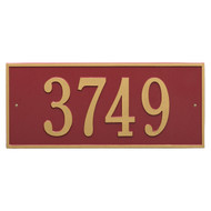 Hartford Address Plaque 23Lx10H (1Line)
