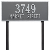 Hartford Address Lawn Plaque 23Lx10H (2 Lines)