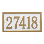 Bismark Address Plaque 14.75 L x 7.25H (1 Line)