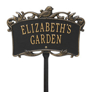 Bird Garden Plaque (Personalize with 2 Lines)