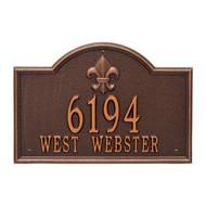 """Bayou Vista Address Plaque 15""""Wx10""""H (2 Lines)"""