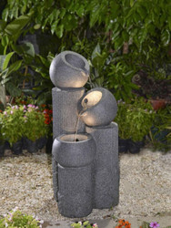 """Multi-tier Bowls Fountain with LED Light 30""""H"""