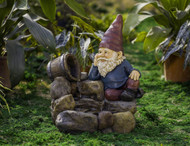 "Thinking Gnome Water Fountain 21""H"