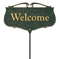 """Welcome"" Garden Poem Sign"