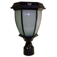 "Solar Goes Green LED Convex Coach Lamp with 3"" OD Round Fitter"