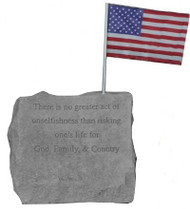 "Service Memorial Stone...""There is No Greater Act..."""