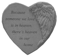 Because Someone...Winged Heart Memorial Stone