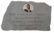 What We Have Once Enjoyed...Photo Memorial Stone