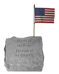 "Service Memorial Stone...""Home of the Free..."""
