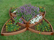 "Frame It All Versailles Sunburst Raised Bed Kit 1 Inch Profile (96"" x 96"" x 16.5"")"