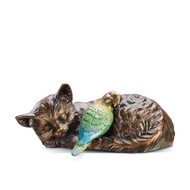 "Midday Cat Nap Garden Sculpture 14""L"