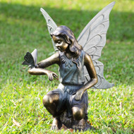 "Grace Fairy Garden Sculpture with Butterfly 25""H"