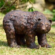 """Rust Finish Garden Bear Sculpture 25""""L"""
