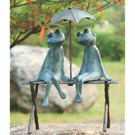 "Frog Lovers Garden Sculpture 18""H"