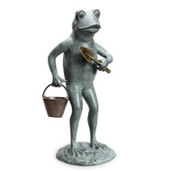 "Green Thumb Frog Garden Sculpture 20""H"