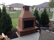 Mirage Stone Outdoor Woodburning Fireplace (Copper)
