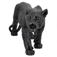 "Medium Shadowed Predator Black Panther Statue 26""W"