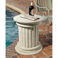 "Roman Doric Column Architectural Stone Stool Plinth 18""H"