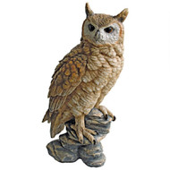 "Perching Forest Owl Statue 17""H"