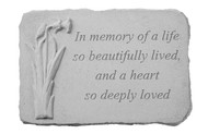 In Memory of a Life...w/Daffodil Memorial Stone