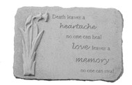 Death Leaves a heartache...w/Daffodil Memorial Stone
