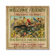 "Welcome Friends Wall Art 17"" x 17"""