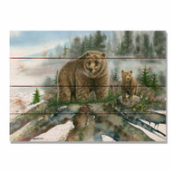 "Spring Break Bear Wall Art 20"" x 14"""