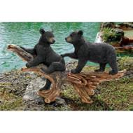 """Mischievous Bear Cubs Sculpture 18""""H"""