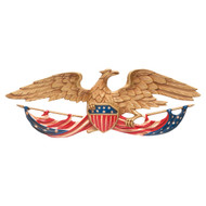 "Patriotic Wall Mount Eagle 24""W"