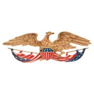 """Patriotic Wall Mount Eagle 24""""W"""