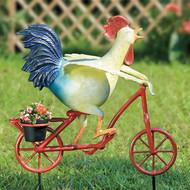 """Speedy Chicken Aluminum Garden Planter 28""""H"""