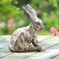 """Scratching Rabbit  Garden Sculpture 11""""H"""