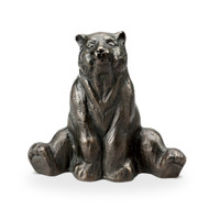"Stretching Yoga Bear Aluminum Garden Sculpture 12""H"