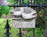 "1 Line Engravable Berrybirds Address Plaque 9""W"