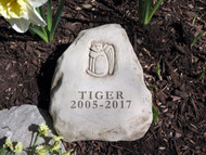 "2 Lines Engraved Cat Memorial 6.5""H"