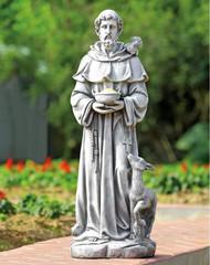 "Benevolent Saint Francis Garden Sculpture 36""H"