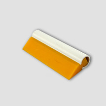 "5.5"" Yellow Turbo Squeegee - Tube Handle & Angled Blade"