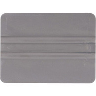 "4"" Lidco Bump Card Round Corner Squeegee - Gray"