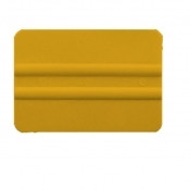 "4"" Lidco Bump Card Round Corner Squeegee - Yellow"