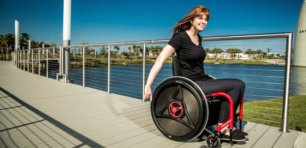 Using the Rowheels outside with your wheelchair