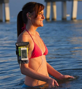 Smartphone Waterproof Pouch With Waterproof Earphones