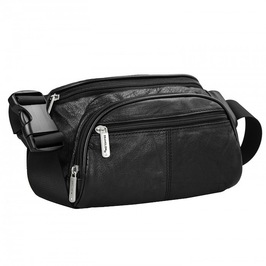 Anti Theft RFID Safe Leather Waist Pack