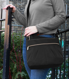 Anti Theft Signature 3 Compartment Crossbody Bag