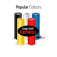 Digi-Cut Express Heat Transfer Vinyl - Popular Colours
