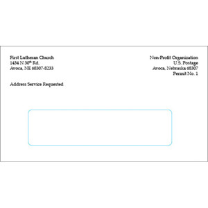 # 6  3/4  Window Envelope Black Ink