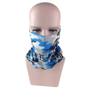 Blue Camo Sun Safe Face Shield
