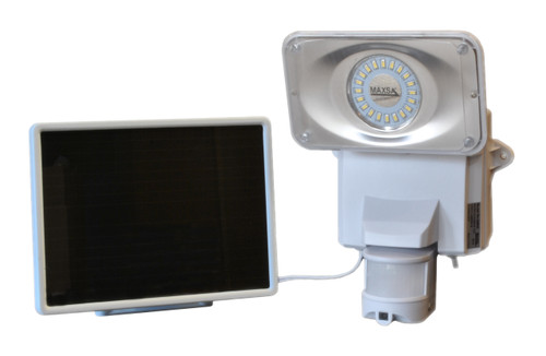 security video camera and floodlight